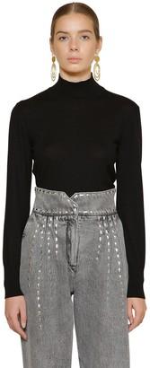Alberta Ferretti Wool & Cashmere Rib Knit Sweater