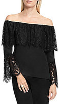 Vince Camuto Lace Bell Sleeve Off-the-Shoulder Blouse