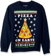 Hybrid Men' Pizza On Earth Holiday Pullover