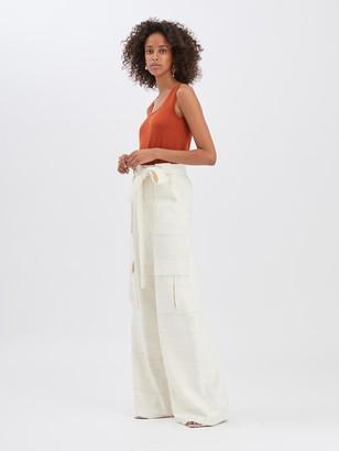 Oscar de la Renta Silk Cargo Pants