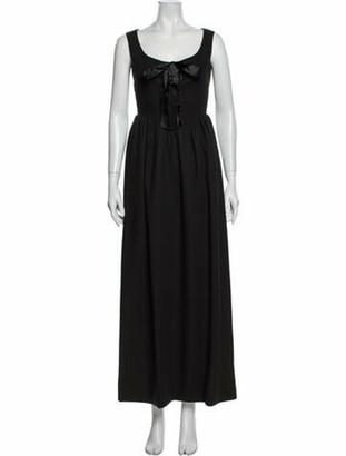Geoffrey Beene Scoop Neck Long Dress Grey