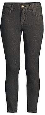 J Brand Women's Alana High-Rise Crop Metallic Skinny Jeans