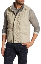 Save Khaki Quilted Reversible Vest