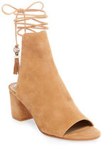 Brian Atwood Bali Suede Lace-Up Boots