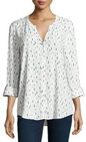 Soft Joie Dane Printed Long-Sleeve Top, White