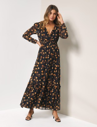 Forever New Lenora Long-Sleeved Maxi Dress - COPPER DITSY - 4