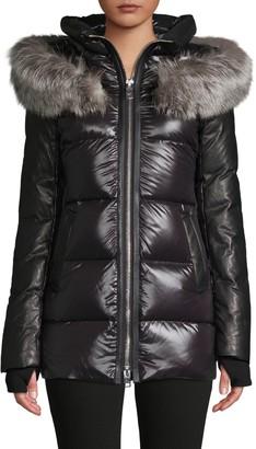 Nicole Benisti Nakiska Fox Fur-Trim Down Puff Jacket