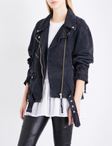 Free People Moto denim jacket