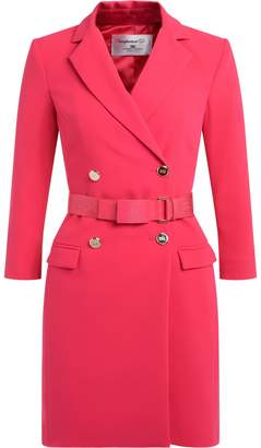 Elisabetta Franchi Celyn B. Coral Dress With Double-breasted Closure