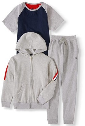 Beverly Hills Polo Club Boys 4-12 T-Shirt, Hoodie Sweatshirt, & Jogger Sweatpants, 3-Piece Outfit Set