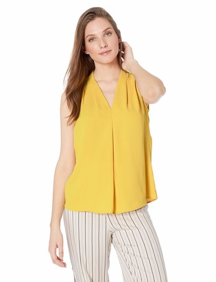 Nine West Women's Printed Inverted Pleat Neck Blouse