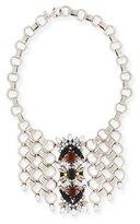 Dannijo Alessio Crystal Circle-Link Bib Necklace