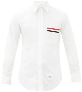 Thom Browne Grosgrain-applique Cotton-oxford Shirt - White