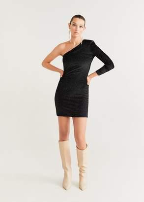 MANGO Asymetric velvet dress