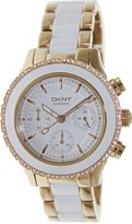 DKNY Women's 'Westside' Quartz Stainless Steel and Ceramic Casual Watch, Color:Gold-Toned (Model: NY8825)