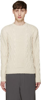 Alexander McQueen Off-White Cableknit Sweater