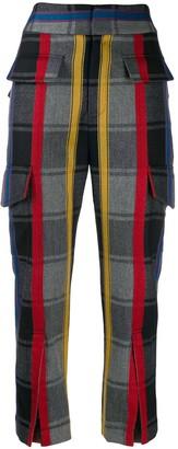 Ji Oh Cropped Cargo Trousers