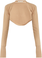 Palmer Harding PALMER/HARDING Open-front cropped wool-knit top