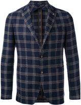 Tagliatore check blazer - men - Cupro/Virgin Wool/Linen/Flax - 50