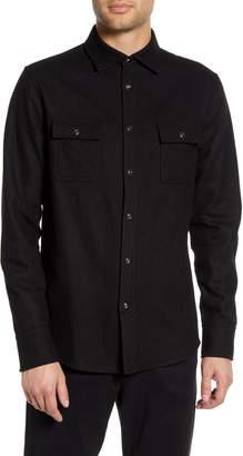 Karl Lagerfeld Paris Regular Fit Wool Blend Shirt