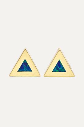 Jennifer Meyer 14-karat Gold Opal Earrings