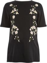 Topshop MATERNITY Floral Embroidery T-Shirt