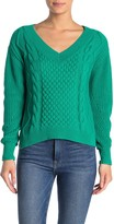 Abound Cable Knit V-Neck Pullover