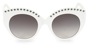 Alaia 52MM Round Sunglasses
