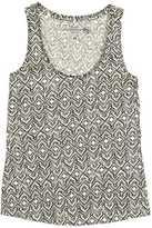 H&M Jersey Tank Top - Natural white/patterned - Ladies