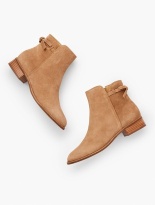 Talbots Tish Tie-Detail Ankle Boots - Suede