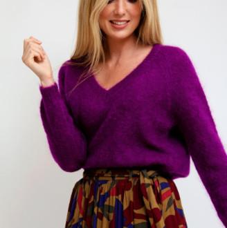 l'Adresse Concept Store - Purple Mohair Sweater - T3