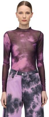 Marques Almeida Tie Dye Lycra Mesh Top
