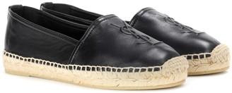 Saint Laurent Monogram leather slip-on loafers