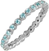 Simply Stacks Sterling Prong-Set Blue Topaz Stackable Ring