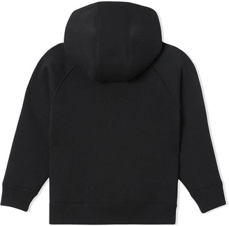 Burberry Kids Logo Patch Zip-up Hoodie Black
