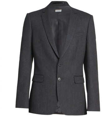 Dries Van Noten Kayne Herringbone Wool Suit