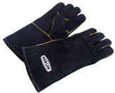 """Man Law BBQ 14"""" Leather Barbecue Gloves"""