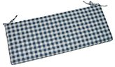 "Navy Blue Plaid / Country Checkered / Checkerboard 2"" Thick Foam Swing / Bench / Glider Cushion with Ties and Zipper - Choose Size (39"" x 17 1/2"")"
