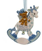 Kurt Adler Personalized Ornament ROCKING GIRAFFE BABY'S 1ST Polyresin Christmas H5006 Boy
