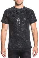 Affliction Men's Short Sleevee Graphic Reversible T-Shirt