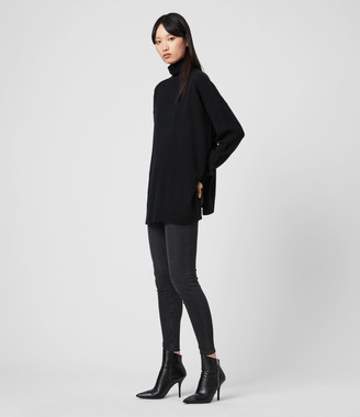 AllSaints Gala Roll Neck Cashmere Sweater