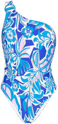 Emilio Pucci One-Shoulder Floral Swimsuit
