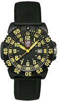Luminox Men's EVO Navy SEAL Colormark 3055 Black Rubber Analog Quartz Watch with Dial