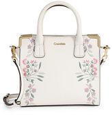 Calvin Klein Floral Embroidered Satchel Bag