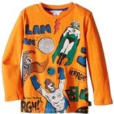 Little Marc Jacobs Long Sleeve Superhero Illustration Tee Shirt Boy's T Shirt