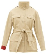 BEIGE Kilometre Paris - Embroidered Cotton-twill Jacket - Womens