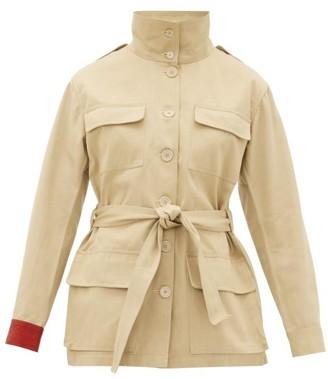 BEIGE Kilometre Paris - Embroidered Cotton-twill Jacket - Womens