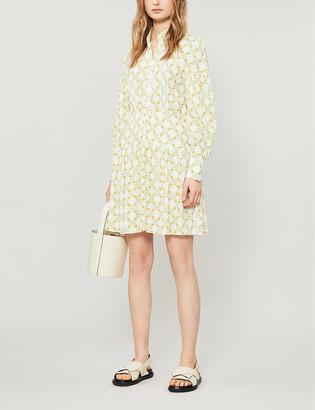Sandro Magy floral-print woven mini dress