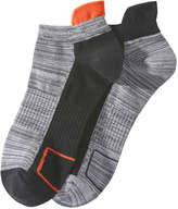 Joe Fresh Men's 2 Pack Print Athletic Socks, Charcoal (Size 10-13)
