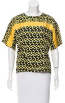 Derek Lam Printed Short Sleeve Top